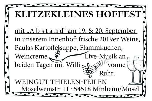 Weinlesefest Minheim Klitzekleines Hoffest